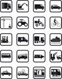 Iconos de la ocupación del transporte Fotografía de archivo libre de regalías