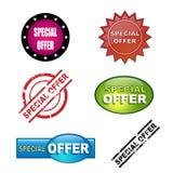 Iconos de la oferta especial Fotografía de archivo libre de regalías