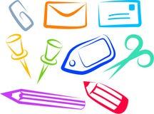 Iconos de la oficina stock de ilustración