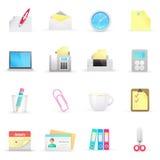 Iconos de la oficina Imagen de archivo