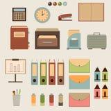 Iconos de la oficina Imágenes de archivo libres de regalías