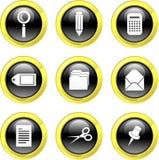 Iconos de la oficina Imagenes de archivo