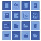 Iconos de la oficina Imagen de archivo libre de regalías