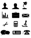 Iconos de la oficina Fotografía de archivo libre de regalías