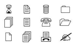 Iconos de la oficina Fotografía de archivo