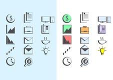 Iconos de la oficina Foto de archivo