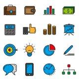 Iconos de la oficina de negocios Imagenes de archivo