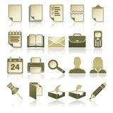 Iconos de la oficina fijados stock de ilustración