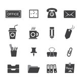Iconos de la oficina fijados Imagen de archivo