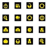 Iconos de la oficina fijados Imagen de archivo libre de regalías