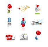 Iconos de la oficina y de las finanzas fijados Fotografía de archivo libre de regalías