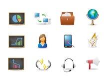 Iconos de la oficina y del asunto Foto de archivo libre de regalías