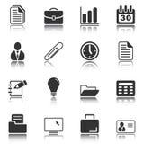 Iconos de la oficina y del asunto - serie blanca ilustración del vector