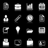 Iconos de la oficina y del asunto - serie negra libre illustration