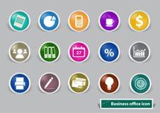 Iconos de la oficina y del negocio Fotografía de archivo libre de regalías
