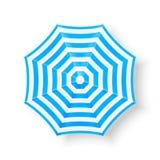 Iconos de la opinión superior del parasol de playa, ejemplo ilustración del vector