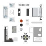 Iconos de la opinión superior de los muebles Fotografía de archivo