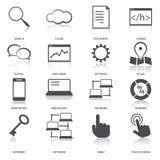 Iconos de la optimización del Search Engine fijados stock de ilustración