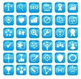 Iconos de la optimización del Search Engine para el diseño web ilustración del vector