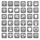 Iconos de la optimización del Search Engine para el diseño web stock de ilustración