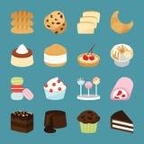 Iconos de la panadería Fotos de archivo libres de regalías