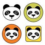 Iconos de la panda Fotografía de archivo