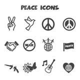 Iconos de la paz stock de ilustración