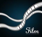 Iconos de la película y del cine Fotos de archivo libres de regalías