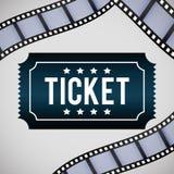 Iconos de la película y del cine Imagenes de archivo