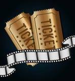 Iconos de la película y del cine Foto de archivo libre de regalías