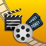 Iconos de la película y del cine Fotos de archivo