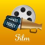 Iconos de la película y del cine Imagen de archivo libre de regalías