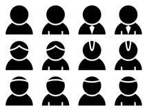 Iconos de la persona negra Fotografía de archivo libre de regalías