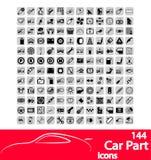 Iconos de la pieza del coche Fotos de archivo