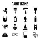 Iconos de la pintura Stock de ilustración