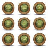 Iconos de la pizarra de la escuela para el juego de Ui Imágenes de archivo libres de regalías