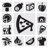Iconos de la pizza libre illustration