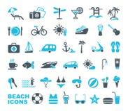 Iconos de la playa Ilustración del vector libre illustration