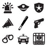 Iconos de la policía Fotografía de archivo libre de regalías