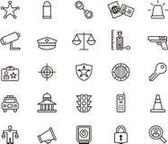 Iconos de la policía Imagen de archivo libre de regalías
