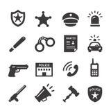 Iconos de la policía fijados