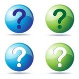 Iconos de la pregunta libre illustration