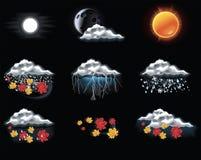Iconos de la previsión metereológica del vector. Parte 2