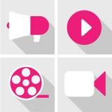 Iconos de la producción fijados Imagen de archivo libre de regalías
