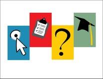 Iconos de la prueba Imagenes de archivo