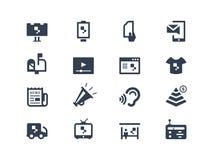 Iconos de la publicidad Imágenes de archivo libres de regalías