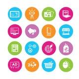 Iconos de la publicidad ilustración del vector