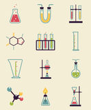 Iconos de la química ilustración del vector