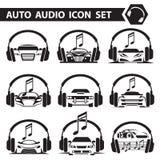 Iconos de la radio de coche fijados Foto de archivo
