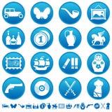 Iconos de la recogida y de la manía Fotos de archivo libres de regalías